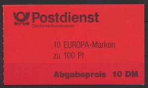 Bund MH 30 oZ Europa Markenheftchen Luxus tadellos postfrisch MNH Kat.-Wert 19,-