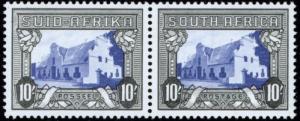 Südafrika 93-94 c 10 sh. seltene Farbe SACC Nr. 63 b tadellos postfr. Paar 1939