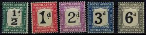 Südafrika P17-21 Portomarken Ziffern kompl. postfrisch ungebraucht Kat.Wert 85,-