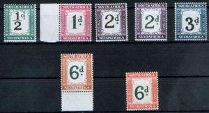 Südafrika P 22-29 ohne 27 Portomarken ungebraucht mit Originalgummi 1932
