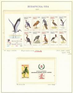 Südafrika 1064-1073 Tiere Wasservögel Spezial-Lot Kleinbögen postfrisch