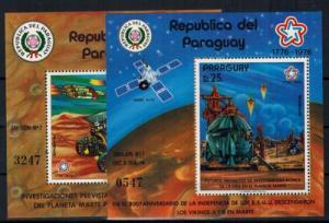 Paraguay Block 294 + 295 200 Jahre USA Raumfahrt postfrisch MNH Kat.-Wert 60,00
