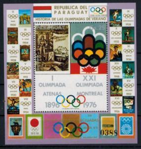 Paraguay Olympia Sport 1977 Block Geschichte der Olympischen Spiele postfrisch