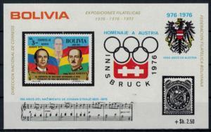 Bolivien Bolivia Flugpost Olympia air mail Block 56 Briefmarken Ausstellung