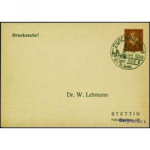 Deutsches Reich Privatganzsache 3 Pfg. Reichspräsidenten ZWICKAU GÖSSNITZ 1932