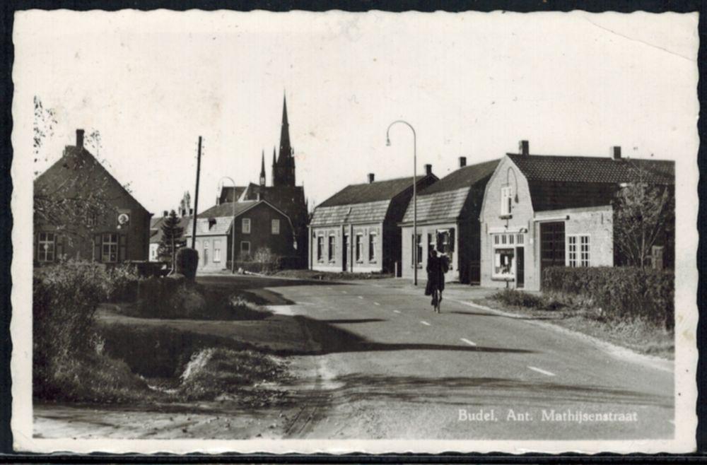 Ansichtskarte Niederlande Budel Ant. Mathijsenstraat gelaufen 1967 n Lüdenscheid 0