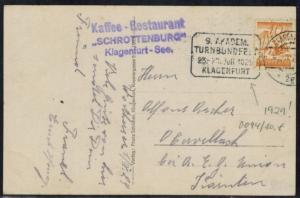 Österreich 1929 Sport seltener Werbestempel