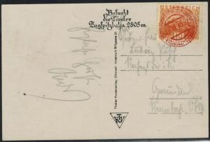 Österreich Sport 1930 seltener roter Stempel