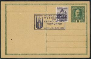 Österreich Sport 1936 Stempel