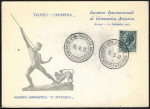 Italien Brief Italy Letter Sport Sonderkarte Gymnastik Special card sports