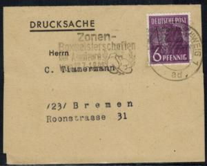 Bizone Brief 944 Sport 1948 SST Zonen Boxmeisterschaft der Amateure Braunschweig