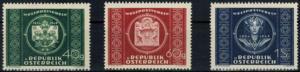 Österreich UPU Weltpostverein 943-945 Luxus postfrisch 1949 Kat.-Wert 20,00