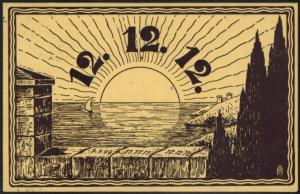 Ansichtskarte Künstler Jahreszahl 12.12.12 gelaufen Altenburg Sachsen nach Borna