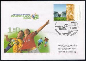 Bund Brief attraktiver Sonderbeleg Brandenburger Tor Fifa Fußball 2006
