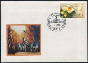 Bund Brief Ganzsache attraktiver Sonderbeleg Brandenburger Tor Berlin 2005