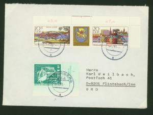 DDR Brief Zusammendruck Pelikan Druckvermerck portogerecht Schönberg Flintsbach