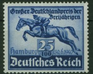 Deutsches Reich 746 Derby Das blaue Band Pferde Tiere Luxus postfrisch MNH 26,00