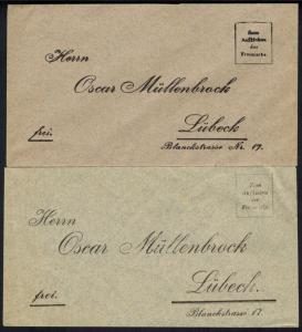 Lübeck Lotterielos 1899 der Fa, Oscar Müllenbrock mit Hauptgewinn 500.000 Mark