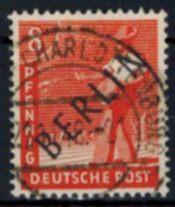 Berlin Schwarzaufdruck Nr. 3 Gemeinschaft m.  Aufdruck 8 Pfg. sauber gestempelt