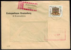 DDR R-Brief 1666 per Einschreiben ab Oranienburg