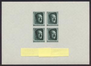 Deutsches Reich Block 8 Briefmarkenausstellung Luxus postfrisch MNH Kat. 220,00