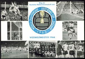 Bund Fußball Weltmeisterschaft Sonderkarte Vizeweltmeister 1966 SST Bonn