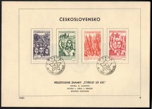 CSSR Tschechoslowakei 1269-1274 Sonderblatt mit Ersttagsstempel 1961 - Nr. 8