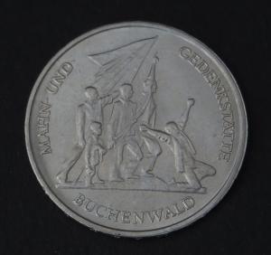 DDR Gedenkmünze 10 Mark Mahn- und Gedenkstätte Buchenwald 1972 vorzüglich vz