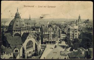Ansichtskarte Dortmund NRW Synagoge Glauben Religion gelaufen 1912