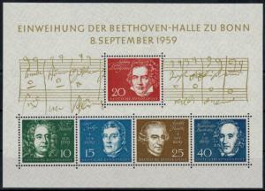 Bund Block 2 Einweihung Beethovenhalle Bonn Luxus postfrisch Kat.-Wert 25,00