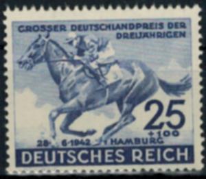 Deutsches Reich 814 Tiere Derby Pferde Blaues Band Luxus postfrisch MNH Kat.22,-