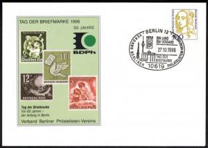 Bund Berlin Ganzsache Verband Philatelisten Tag der Briefmarke Brandenburger Tor