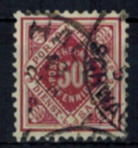 Altdeutschland Württemberg Dienst D 118 50 Pf. Ziffer in Raute gestempelt