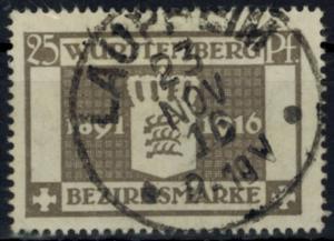 Altdeutschland Württemberg Dienst D 128 25 Pfg. Regentschaft König Wilhelm gest.