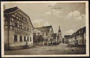 Ansichtskarte Rhön Gersfeld Markt Gasthof Feldpost 17.9.1916 nach Giessen Hessen