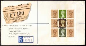 Großbritannien R-Brief Zusammendruck Heftchenblatt 144London Leipzig DDR 1988