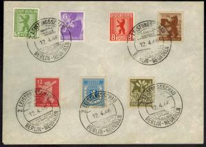 SBZ Brief SST Neukölln 2. Leistungsschau Industrie + Handwerk im USA Sektor 1946
