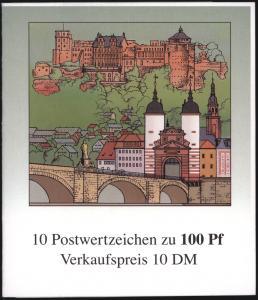 Bundesrepublik Markenheftchen 33 - 800 Jahre Heidelberg 1996 postfrisch
