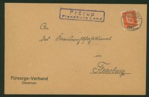 Deutsches Reich Landpoststempel Frörup Flensburger Land Schleswig-Holstein 1932