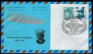 Privat Ganzsache Zeppelin Flugtag Marineflieger 2 WST Unfall + B & S Nordholz