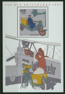 Bund Block 41 Flugzeug Tag der Briefmarke tadelos postfrisch 1997
