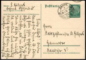 Hindenburg Ganzsache Landpoststempel Dahme über Lensahn Schleswig-Holstein 1932
