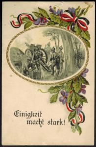 Ansichtskarte I. WK. Feldpost Soldaten Geschütz 1916 Frontenhausen Bayern