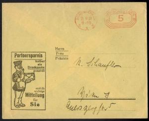 Deutsches Reich Postsache Braunschweig AFS 5 Pfg. auf schön illustr. Brief Porto