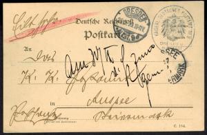 Deutsches Reich Postsache Stempel Kaiserl. Deutsches Postamt Dresden Altstadt