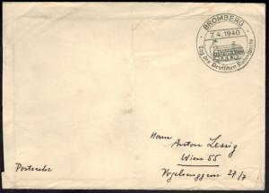 Deutsches Reich Postsache Wassersport SST Bromberg Tag des dt. Rudersports 1940
