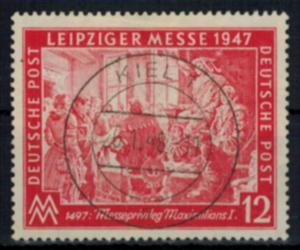 All. Besetzung Gemeinschaft 965 Leipziger Messe mit Vollstempel Kiel 1 20.1.1948