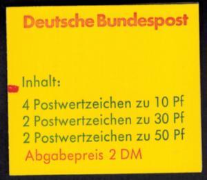 Bund Markenheftchen 22 I d mZ Burgen und Schlösser 1980 tadellos postfrisch