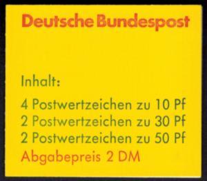 Bund Markenheftchen 22 I d oZ Burgen und Schlösser 1980 tadellos postfrisch