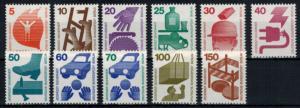 Berlin Unfall 402-411 + 453 A kompl. Satz 11 Werte komplett tadellos postfrisch